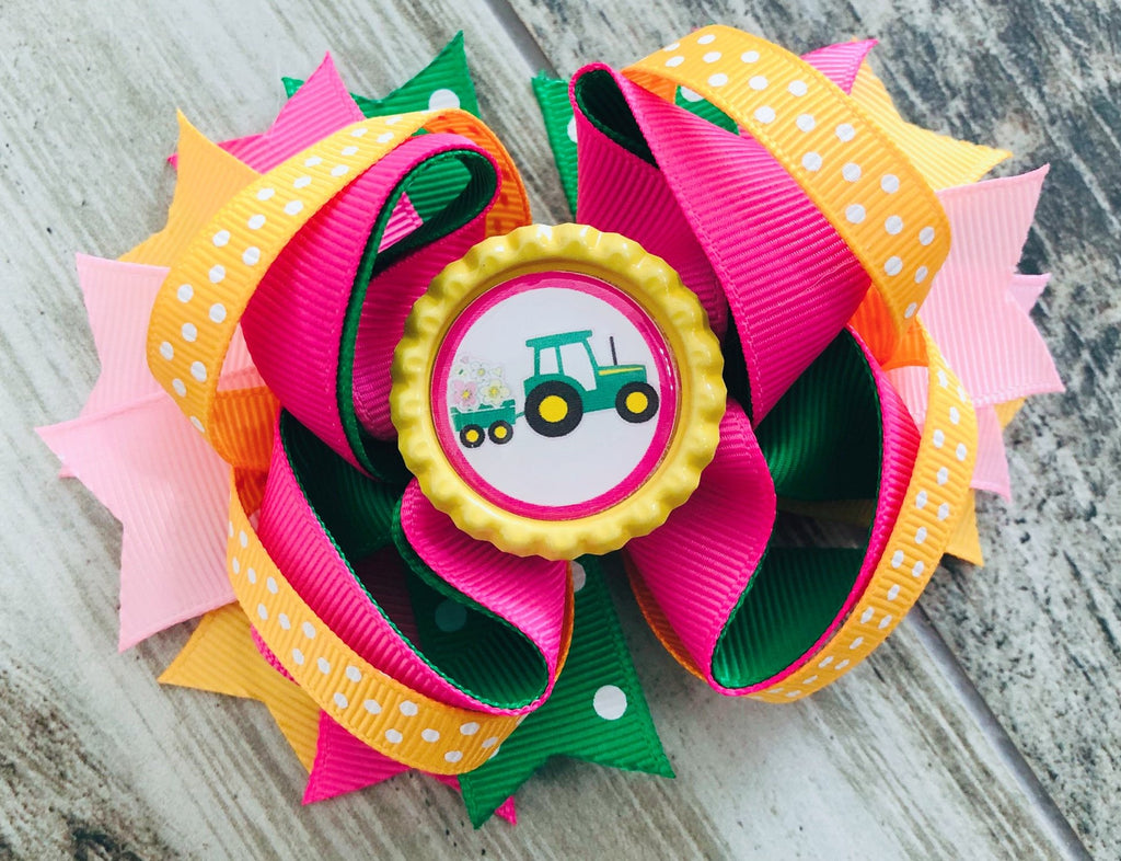 John Deere Hair Bow - Nico Bella Boutique