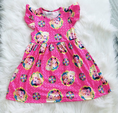 Elsa & Anna Frozen Girls Pearl Dress - Nico Bella Boutique