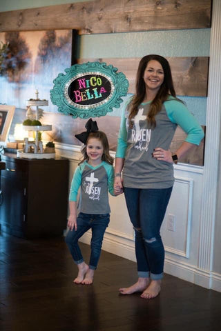He is Risen Indeed Kids Raglan - Nico Bella Boutique