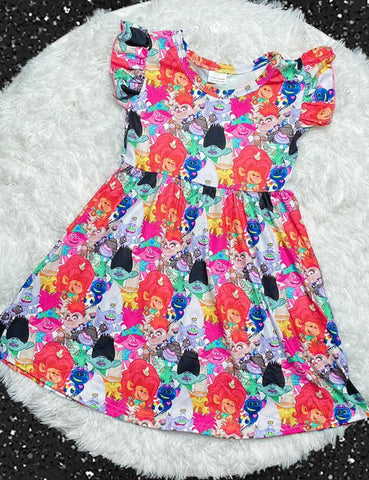 Trolls World Tour Pearl Dress - Nico Bella Boutique