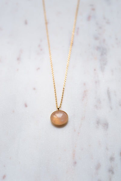 collier quartz rose Audrey Langlois