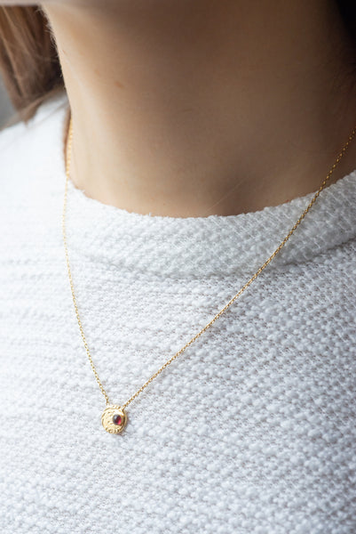 Collier Rose - Grenat