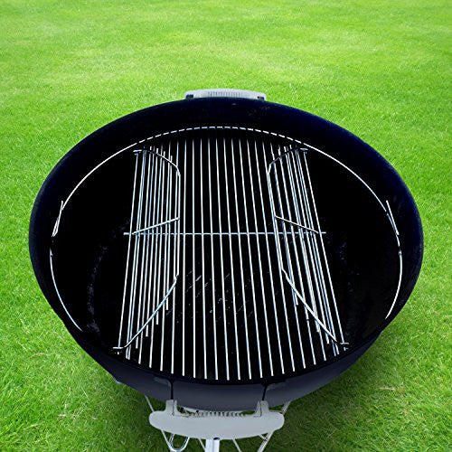 "22 Inch 201 Stainless Steel 4mm Hinged Grilling/Cooking Replacement Grate for Weber 22"" grill grate - For use in 22"" Weber Charcoal Grills - Cool Present for Him, Man Gift"