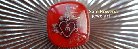 jewelart heart design glass pendants