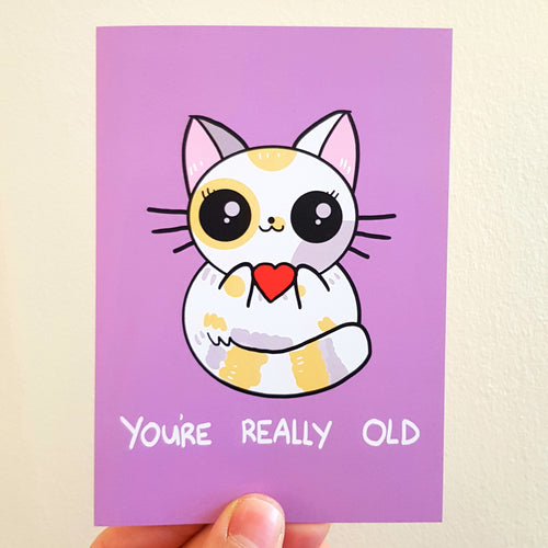 'You're Really Old' Cat Card