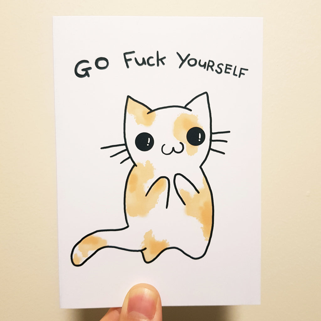 Go F Yourself Cat Card
