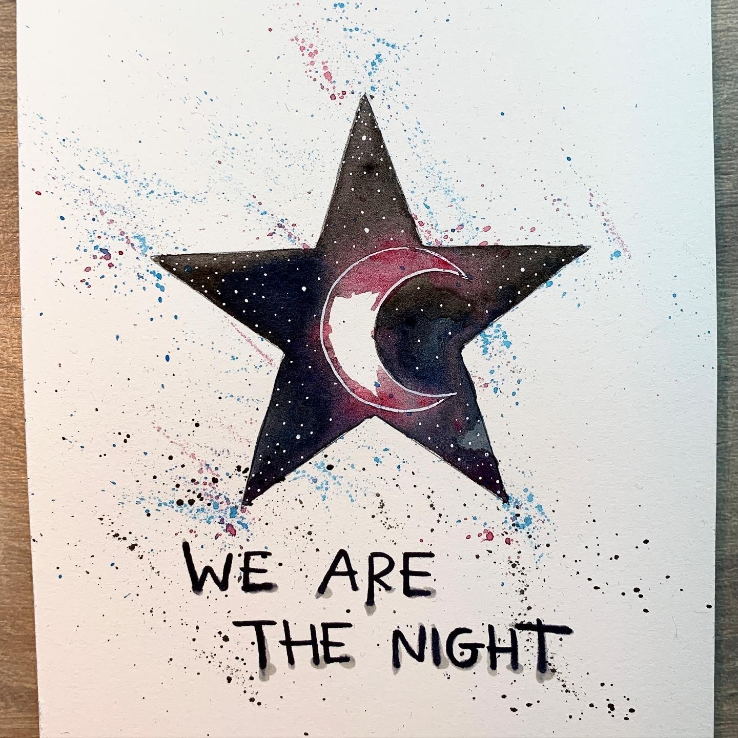Original Watercolour Star (A5) PLEASE SELECT WITH DROP DOWN MENU