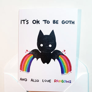 'It's OK To Be Goth...' Card
