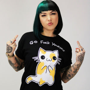 Cat 'Go Fuck Yourself' Unisex Tee