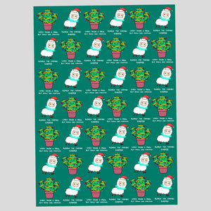 Alpaca & Cactus Wrapping Paper (A2 Sheet)