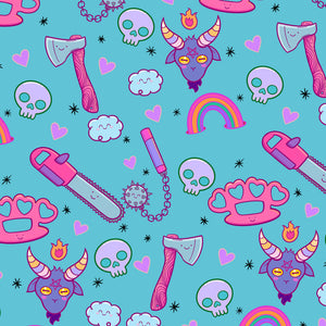 Kawaii Baphomet Wrapping Paper (A2 Sheet)