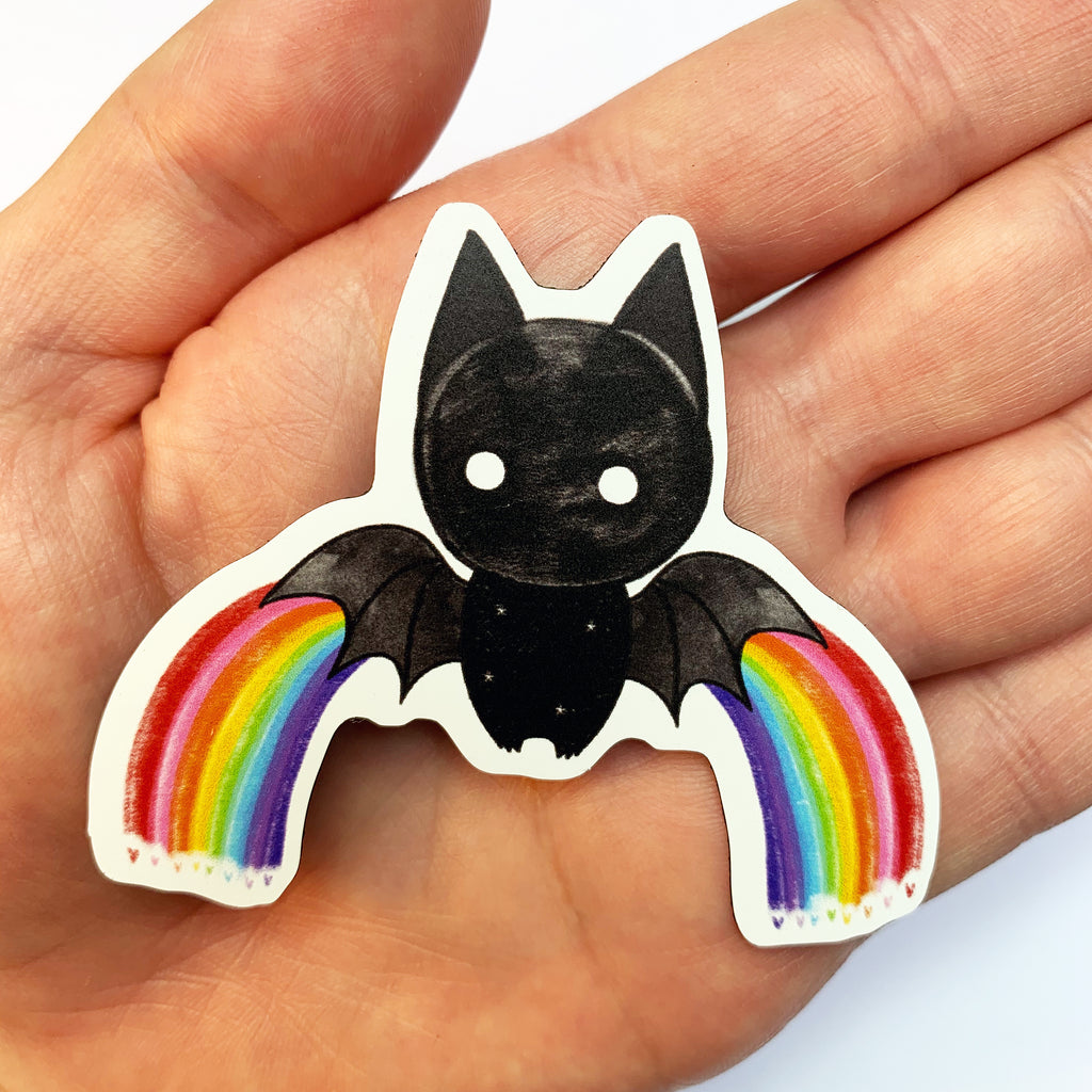 'Rainbow Bat' Magnet