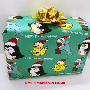 Xmas Animals Wrapping Paper (A2 Sheet)