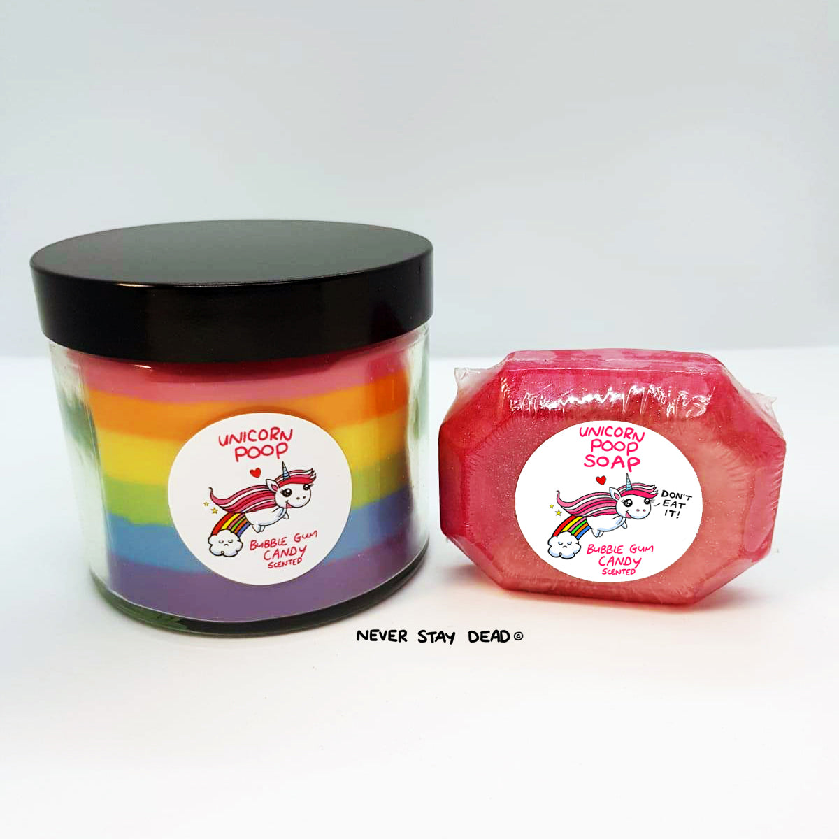 'Unicorn Poop' Candle & Soap Set (Vegan)