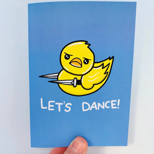 'Let's Dance' Stab Duck Card