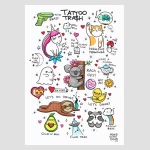 'Tattoo Trash 2' Print