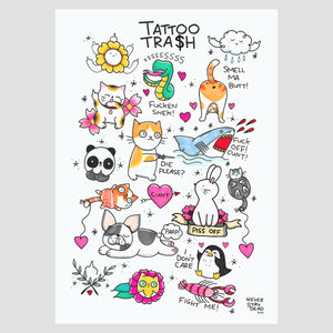 'Tattoo Trash 1' Print