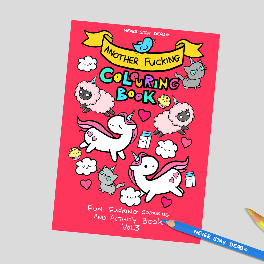 PRE-ORDER Colouring & Activity Book (vol 3) Restocked December 1st