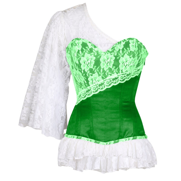 Adalric Laced Cloud Green Overbust Corset