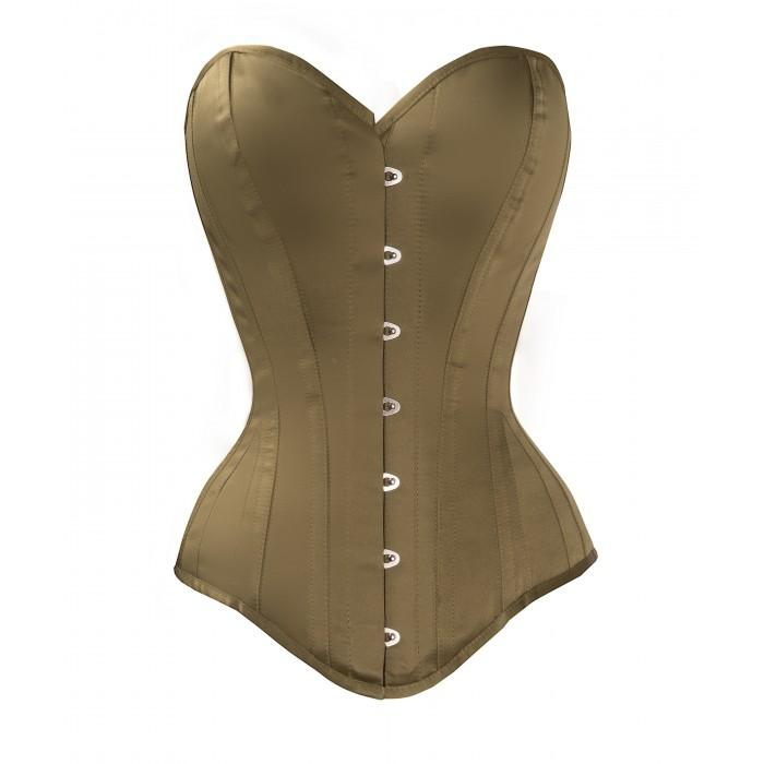 Wambach Steel Boned Waist Taiming Corset With Hip Gores