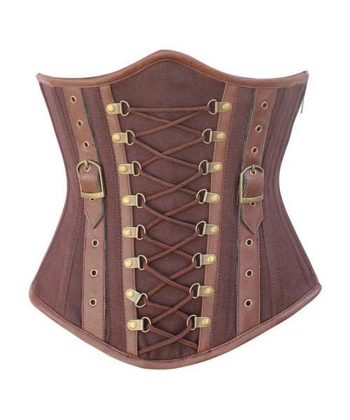 Lange Instant Shape Criss Cross Cotton Steampunk Underbust Corset