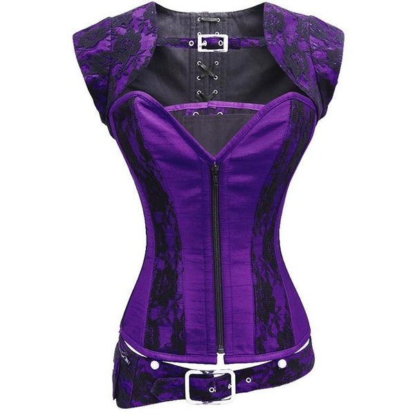 Glenn Purple Corset With Detachable Belt And Jacket