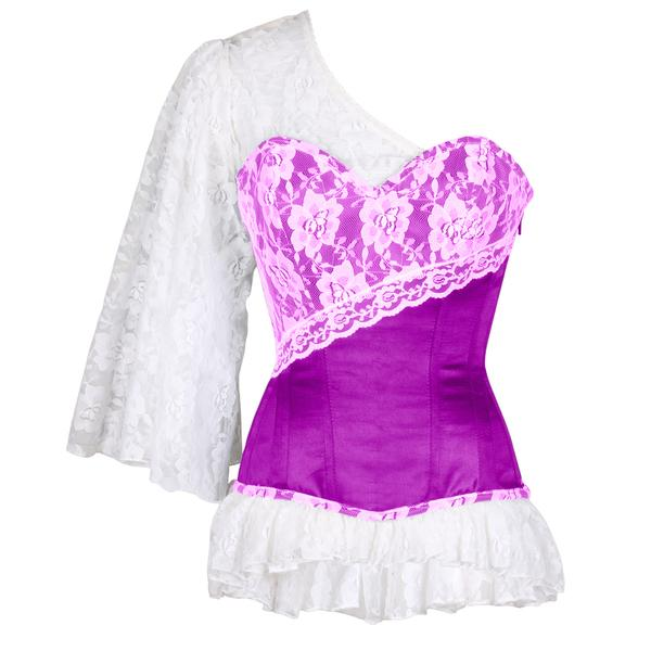 Gareth Laced Cloud Purple Overbust Corset