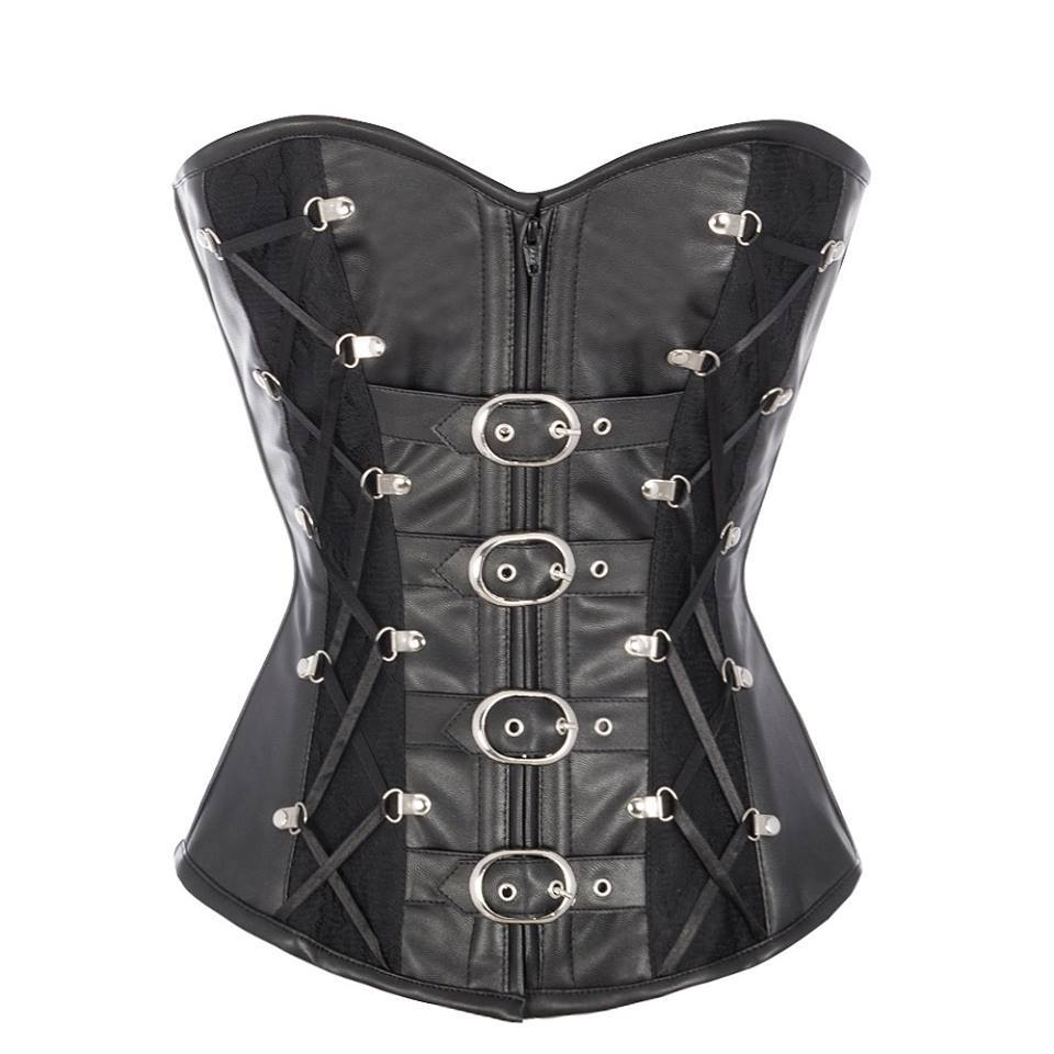 Anzela Sheep Napa Leather Corset with Criss Cross Lacing