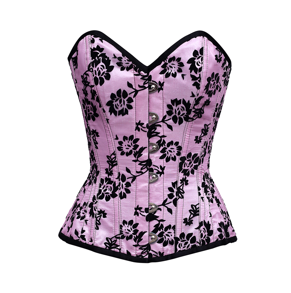 Arnot Overbust Corset In Tissue Flocking