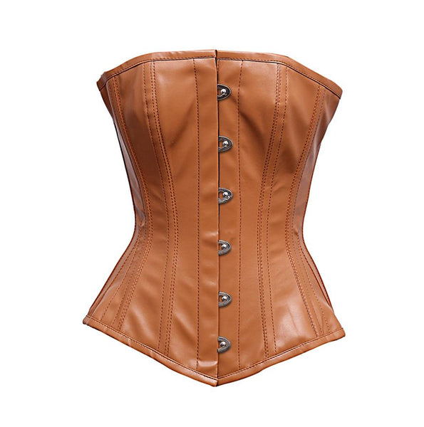 Binga Steel Boned Faux Leather Corset
