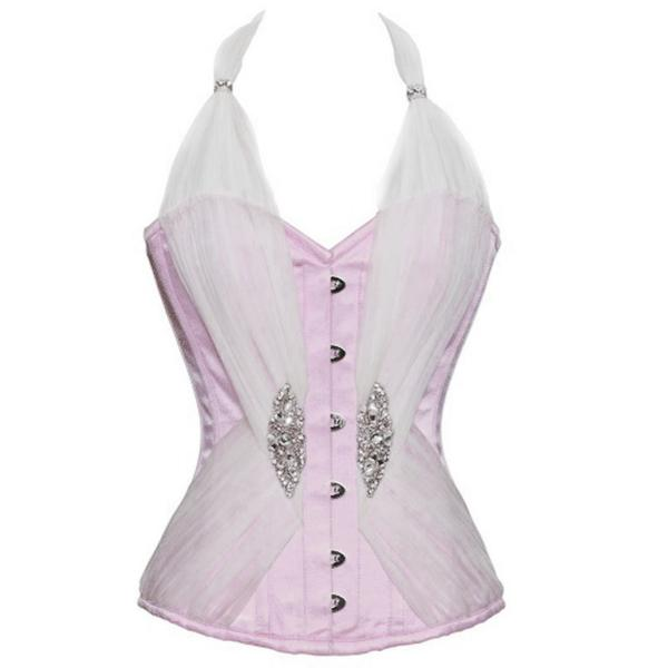 Diop Pink Satin Tied Up In Cupcakes Corset