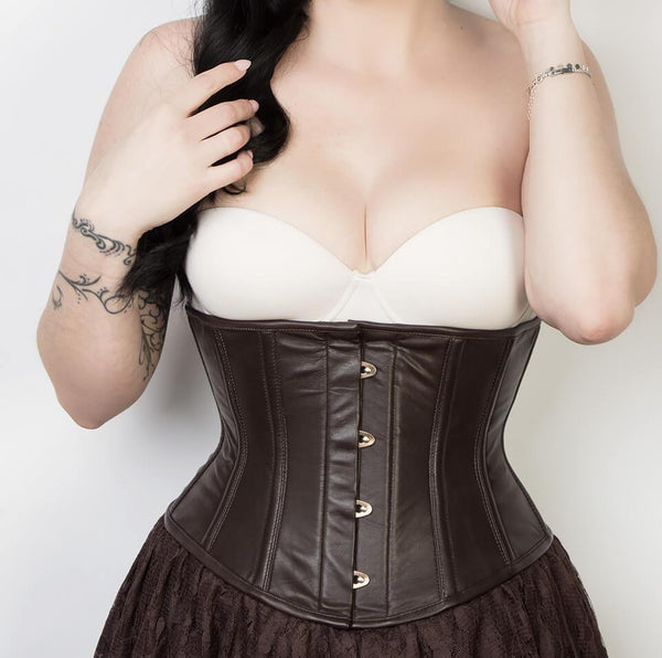 58ece26c610 Gesel Sexy Underbust Brown Leather Corset