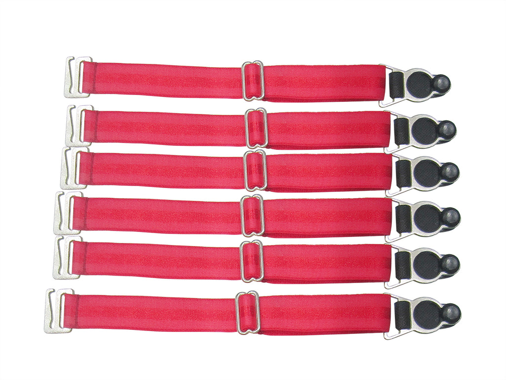 Suspender Clips In Red