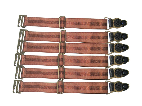 Suspender Clips In Rust Brown