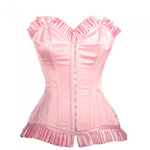 Queena Overbust Corset With Frill