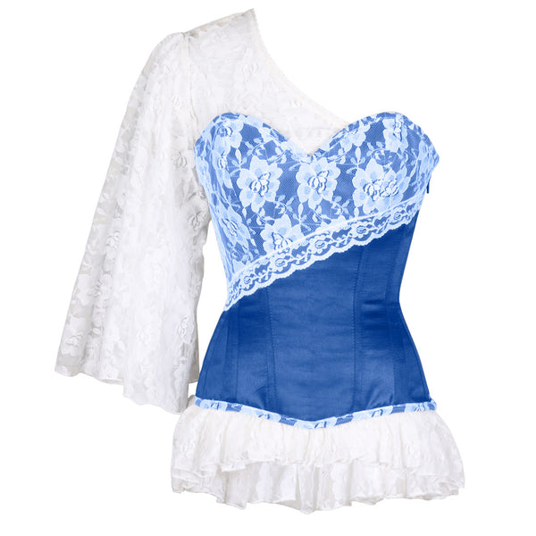 Adaliz Laced Cloud Blue Overbust Corset