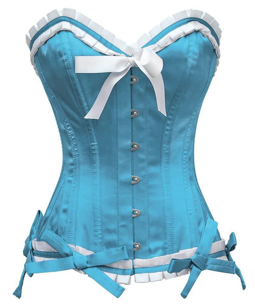 Bryan Burlesque Turquoise Overbust Corset