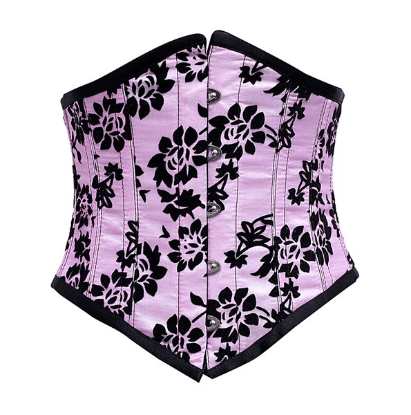 Horan Pink Underbust Corset With Tissue Flocking