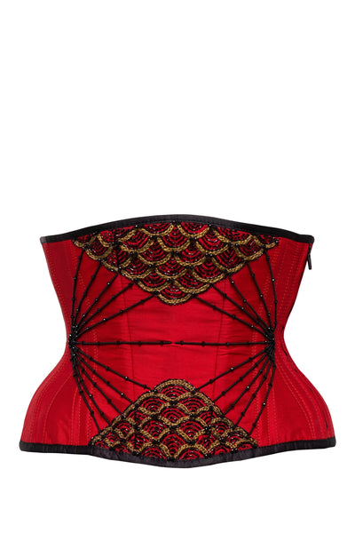 Jando Embellished Couture Underbust Red Corset