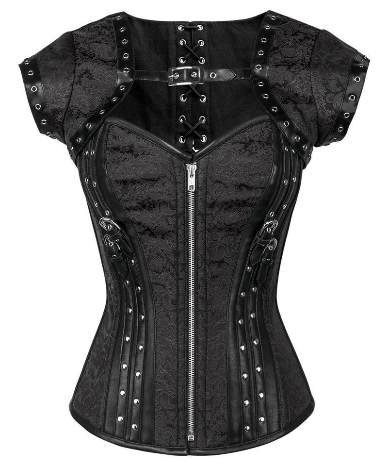 Phoebe Steampunk Overbust Corset with Bolero