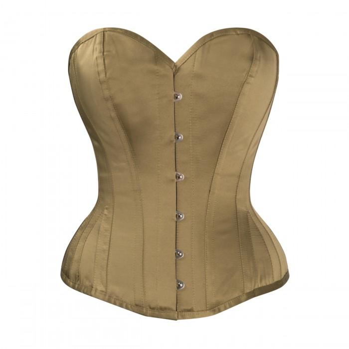 Leslie Steel Boned Waist Taiming Corset With Hip Gores
