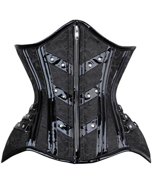 Careess New Curvy Brocade Waist Trainer with Front Zipper