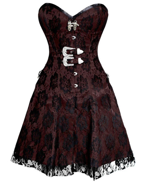 Nol Gothic Net Overlay Corset Dress