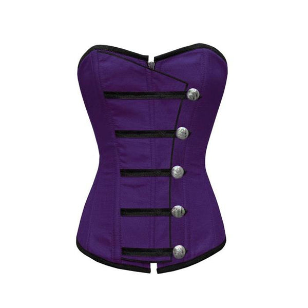 Wardy Purple Corset With Button Down Placket