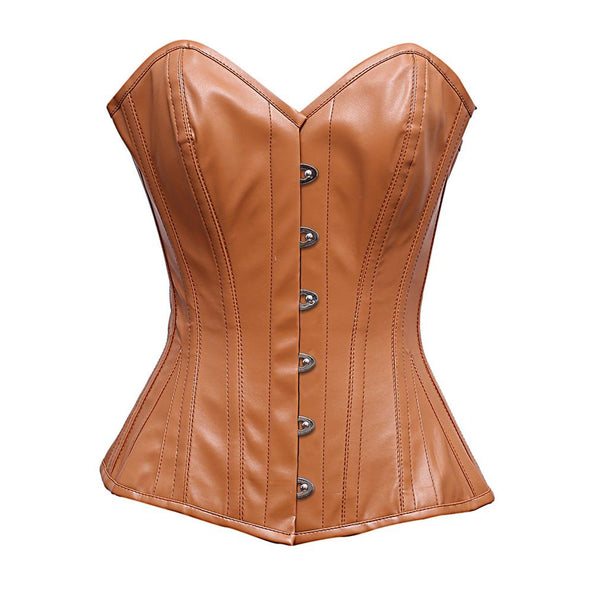 Stonsiey Steel Bone Sheep Nappa Leather Corset