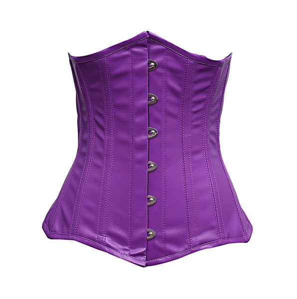 Souness Purple Faux Leather Corset