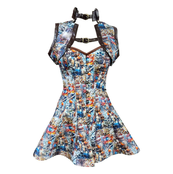 Leigt Steampunk Corset Dress