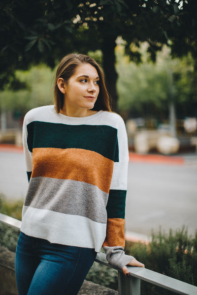 Falling For Stripes Sweater
