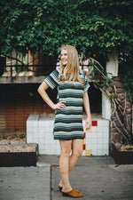 Striking in Stripes Shift Dress