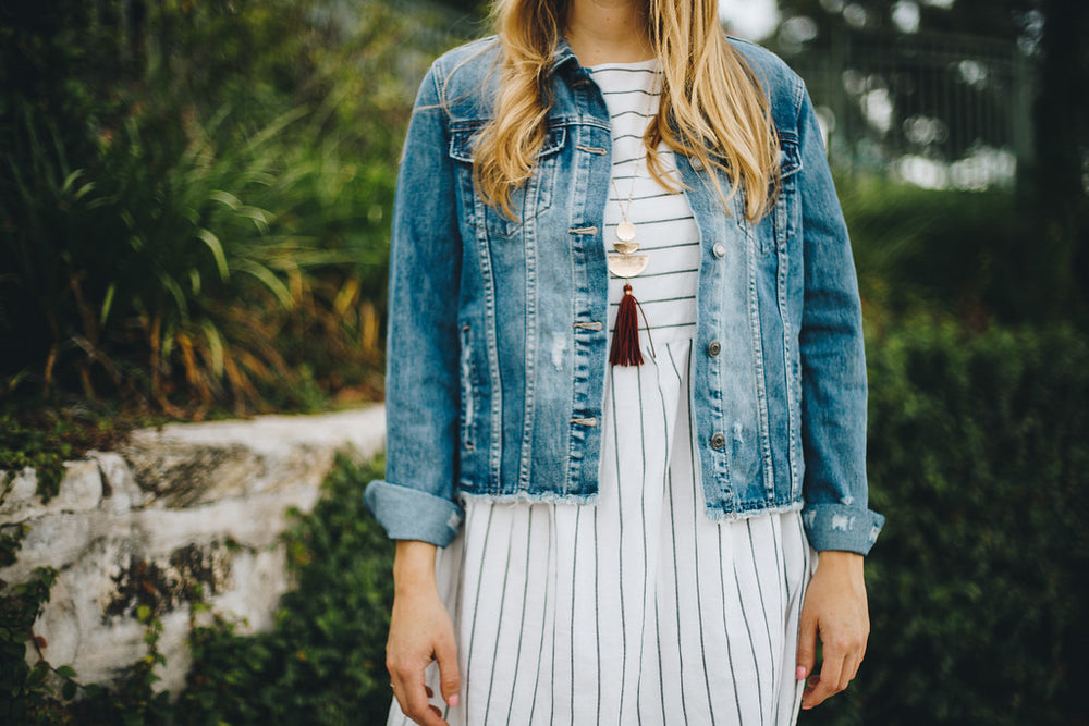 The Sofie Distressed Denim Jacket